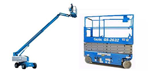 Aerial lift rentals in Okanagan and Shuswap areas of British Columbia