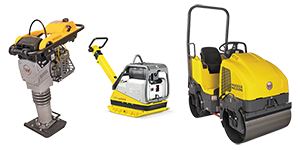 Compaction equipment rentals in Okanagan and Shuswap areas of British Columbia