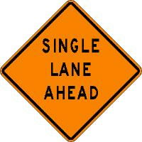 Where to find SIGN, SINGLE LANE TRAFFIC in Vernon